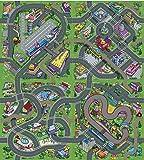Tapis de Jeu pour Enfants Circuit de voitures dans la ville 140 x 160 cm Playset