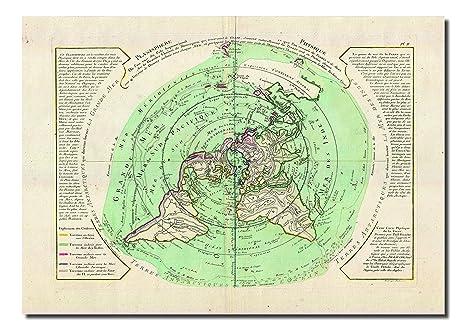 Flatearthtv 1781 Buache De Neuville Carte Du Monde Terre