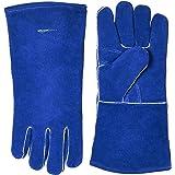 AmazonBasics Welding Gloves, Blue, 2-Pack