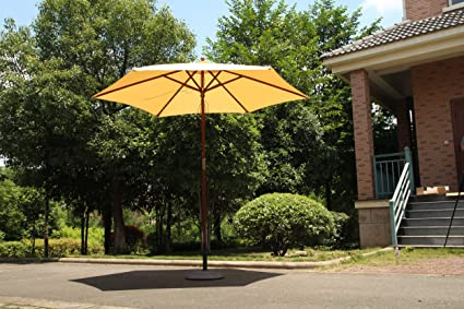 Astonishing Amazon Com Funlife 9Ft Outdoor Teak Patio Umbrella Garden Gmtry Best Dining Table And Chair Ideas Images Gmtryco