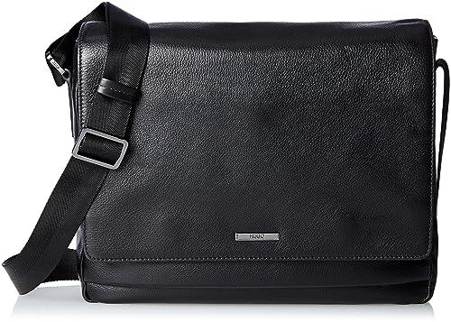 Hugo Boss Element Mass Black 100% Cow Leather Bags Men 6ce90d242f