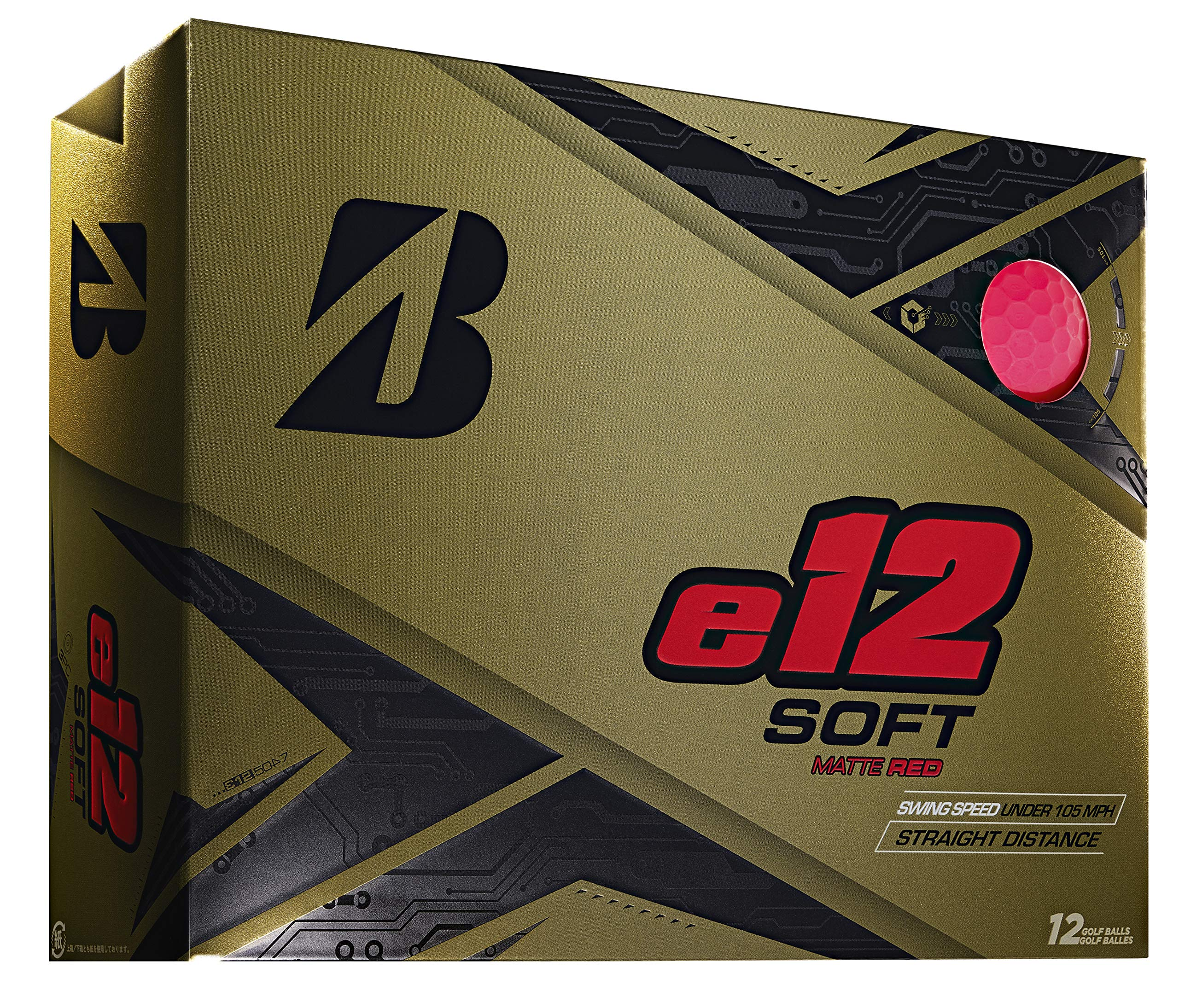 Bridgestone Golf e12 Soft Golf Balls, Matte Red (One Dozen) by Bridgestone Golf