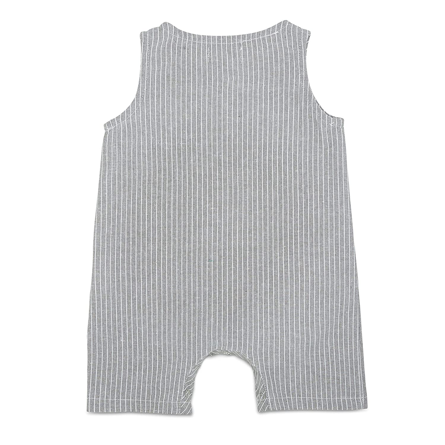 Baby Boy Summer Romper Babe Basics Cropped Linen Baby Romper Summer Photoshoot Outfit