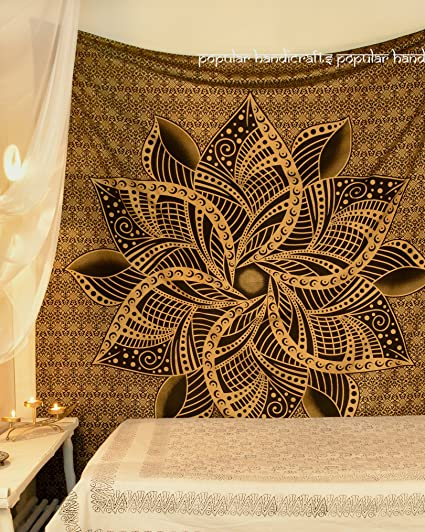 Amazon Com Popular Handicrafts Kp726 Large Moon Ombre Gold Tapestry