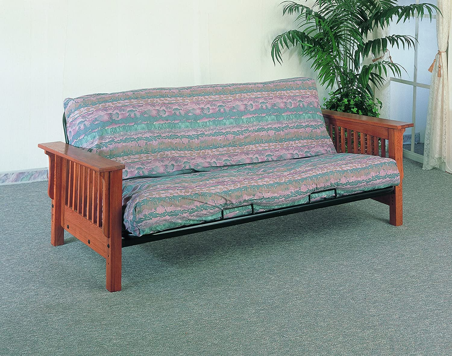 Medium image of crane mission style futon frame in solid oak