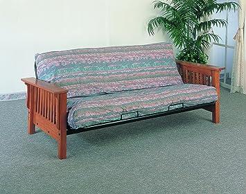 coaster futon frame oak amazon    coaster futon frame oak  kitchen  u0026 dining  rh   amazon