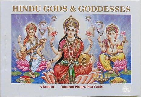 Conjunto de postales pintorescos de los dioses y diosas ...