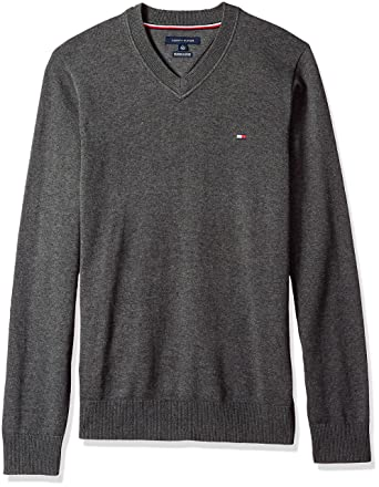 6837e9c51 Tommy Hilfiger Men's Big and Tall Solid Long Sleeve Sweater at Amazon Men's  Clothing store: