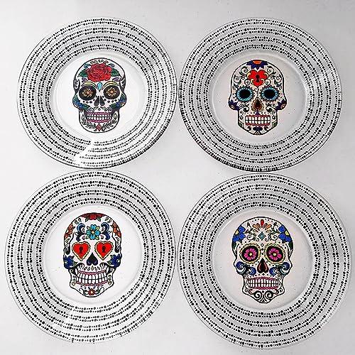 Spanish Sugar Skull Hand Painted Dinnerware Set  sc 1 st  Amazon.com & Amazon.com: Spanish Sugar Skull Hand Painted Dinnerware Set: Handmade