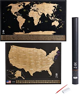 Amazon maps international scratch the world travel map large scratch off world map poster 325 x 23 w us states country gumiabroncs Choice Image