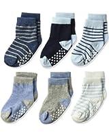 Jefferies Socks Toddler Kids Non-Skid Cotton Crew Socks 6 Pair Pack