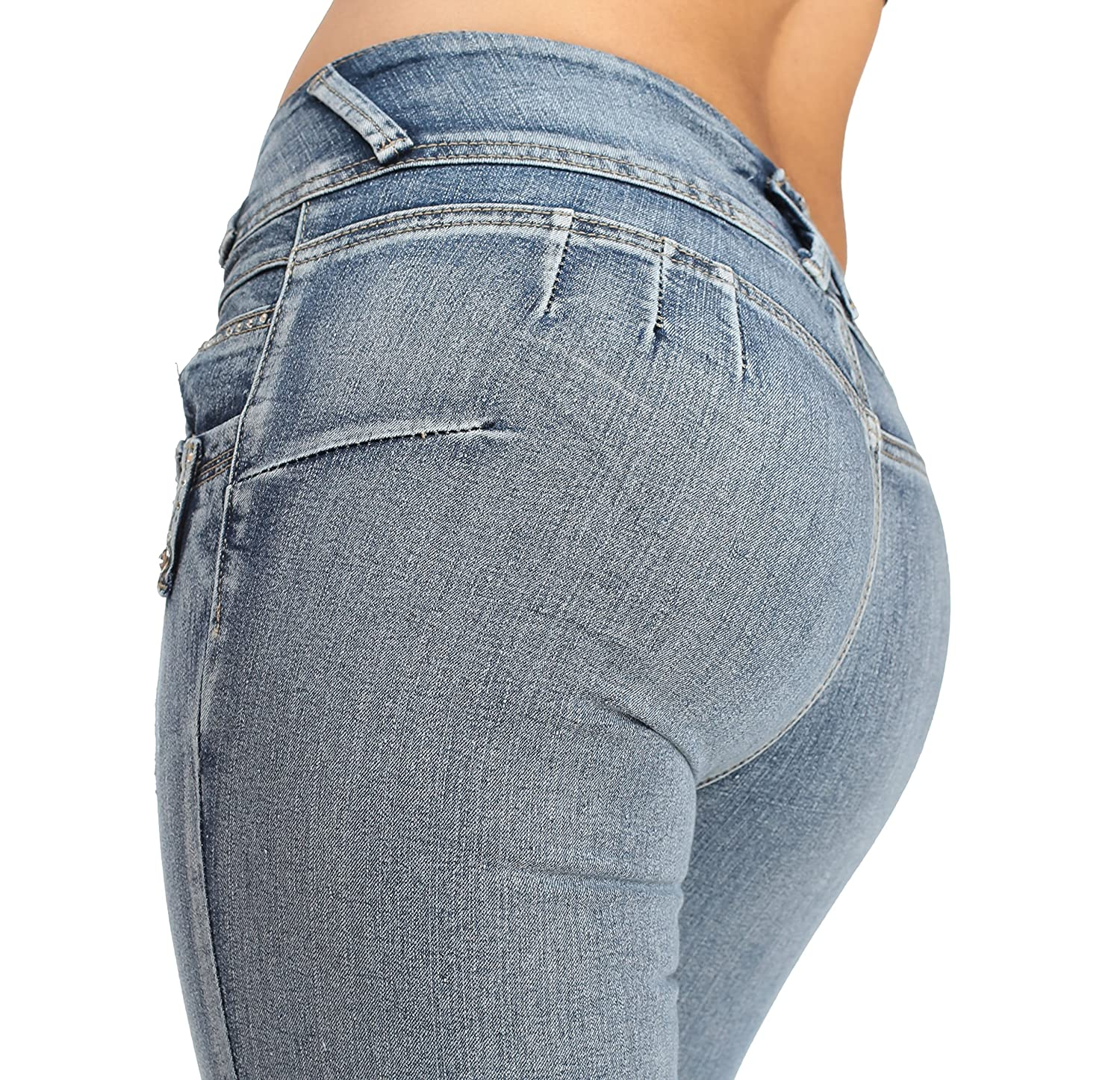 20ca280c high-quality Cheap Butt Lifting Levanta Cola Skinny Jeans Faded Blue ...