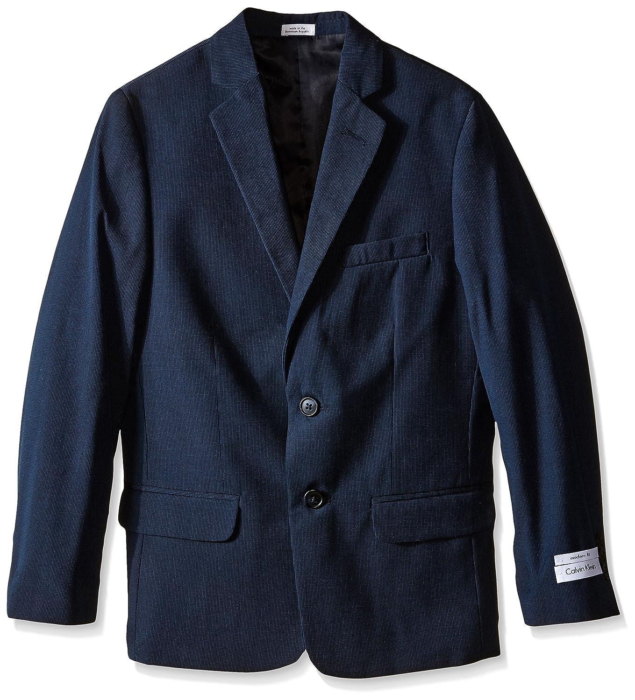 Calvin Klein Boys' CK Single-Breasted Pinstripe Jacket K821091