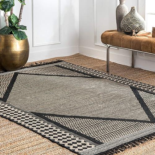 nuLOOM Nicole Modern Diamond Indoor Outdoor Area Rug, 9 x 12 6 , Grey
