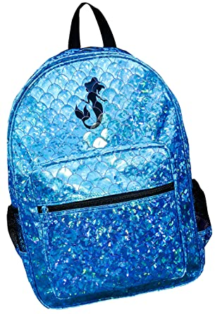 ... Girls School Backpack Mermaid Scales Book Bag Trip Turquoise Shiny  Shimmer the best attitude 2a66e 7db5a ... 34ccd1ae92