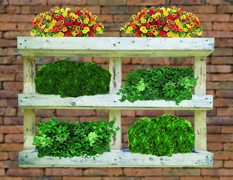 AD servicios Jardinera Vertical de Palet Reciclado 120x81x13 cm ...