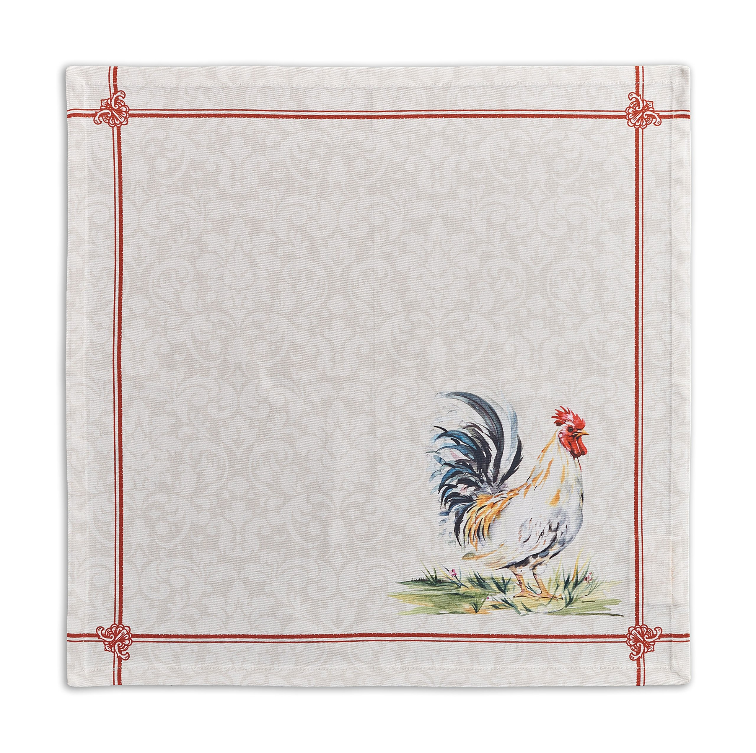 Maison d' Hermine Campagne 100% Cotton Set of 4 Napkins, 20 - inch by 20 - inch.
