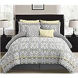 stylehouse WK679914 Allegra Bed in A Bag Comforter Set & Bonus Dec Pillows,Allegra,Full