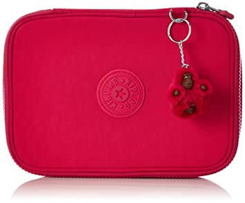 Kipling 100 Pens Pencil Cases, 25 cm, Pink (True Pink)