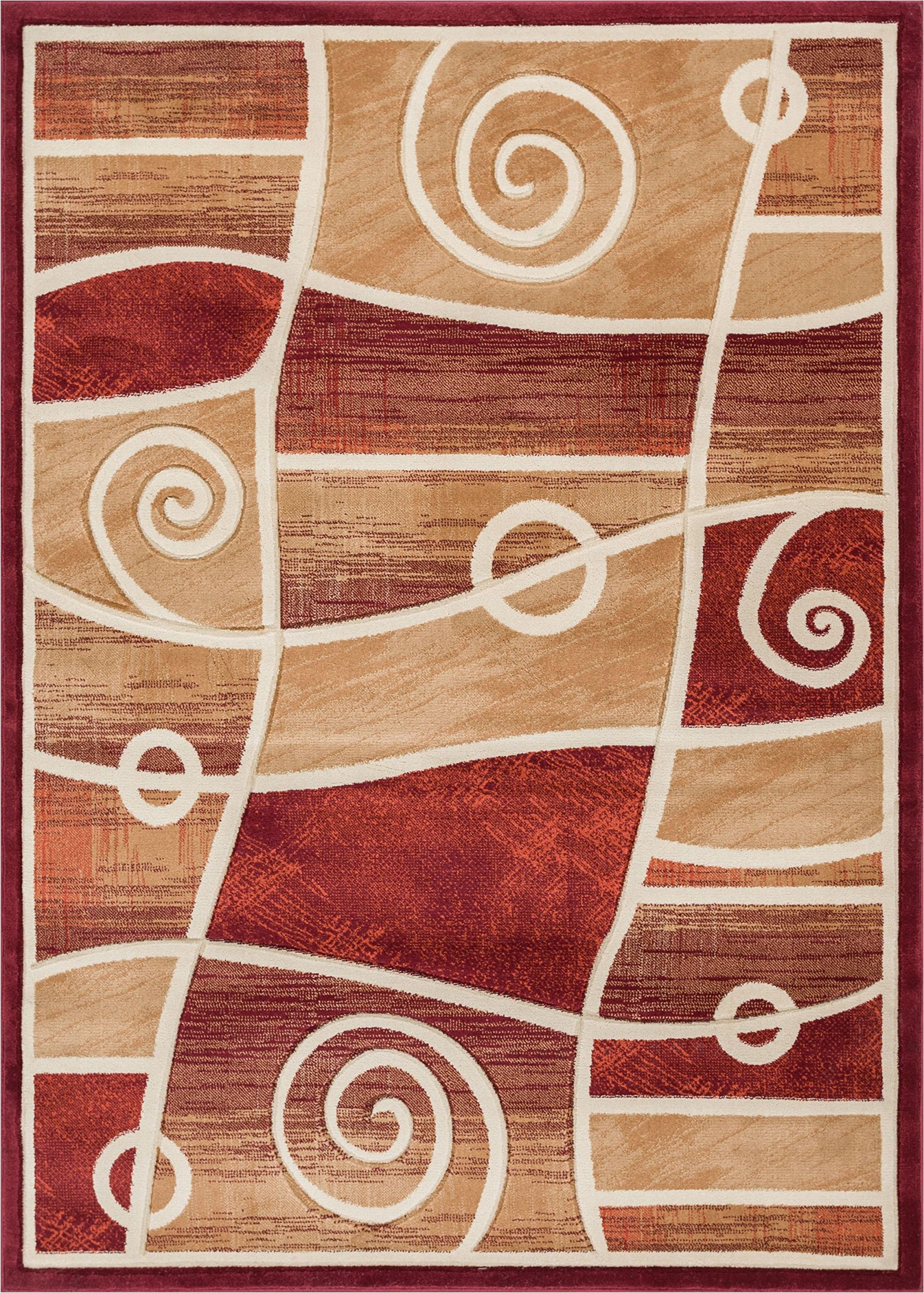 Well Woven BK-10-7 Bingo Dulcet Modern Area Rug, 7'10'' x 9'10'', Red
