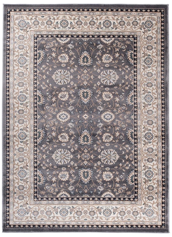 We Love Rugs - Carpeto Traditioneller Klassischer Teppich für Ihre Wohnzimmer - Grau Beige - Perser Orientalisches Ziegler Muster - Blumen Ornamente - Top Qualität Pflegeleicht AYLA 180 x 250 cm Groß