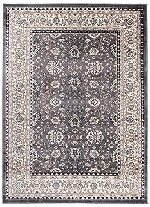"""Grande Tapis d'Orient - GRIS BEIGE - Motif Persan Traditionnel et Oriental - Tapis de Salon Ultra Doux - """" AYLA """" - 200_x_300_cm"""