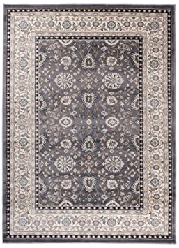 Grande Tapis d\'Orient - GRIS BEIGE - Motif Persan Traditionnel et ...