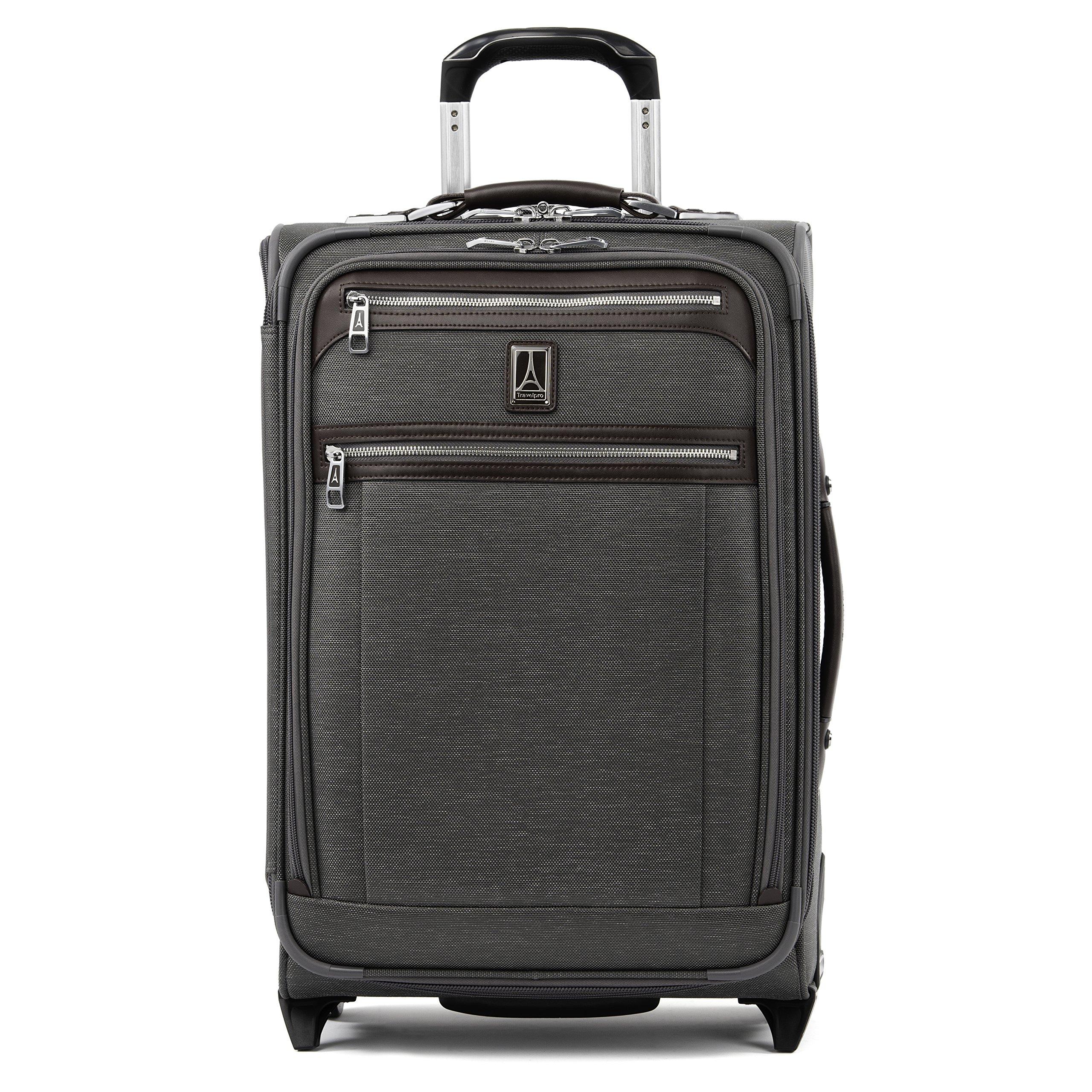 Travelpro Luggage Platinum Elite 22'' Carry-on Expandable Rollaboard w/USB Port, Vintage Grey