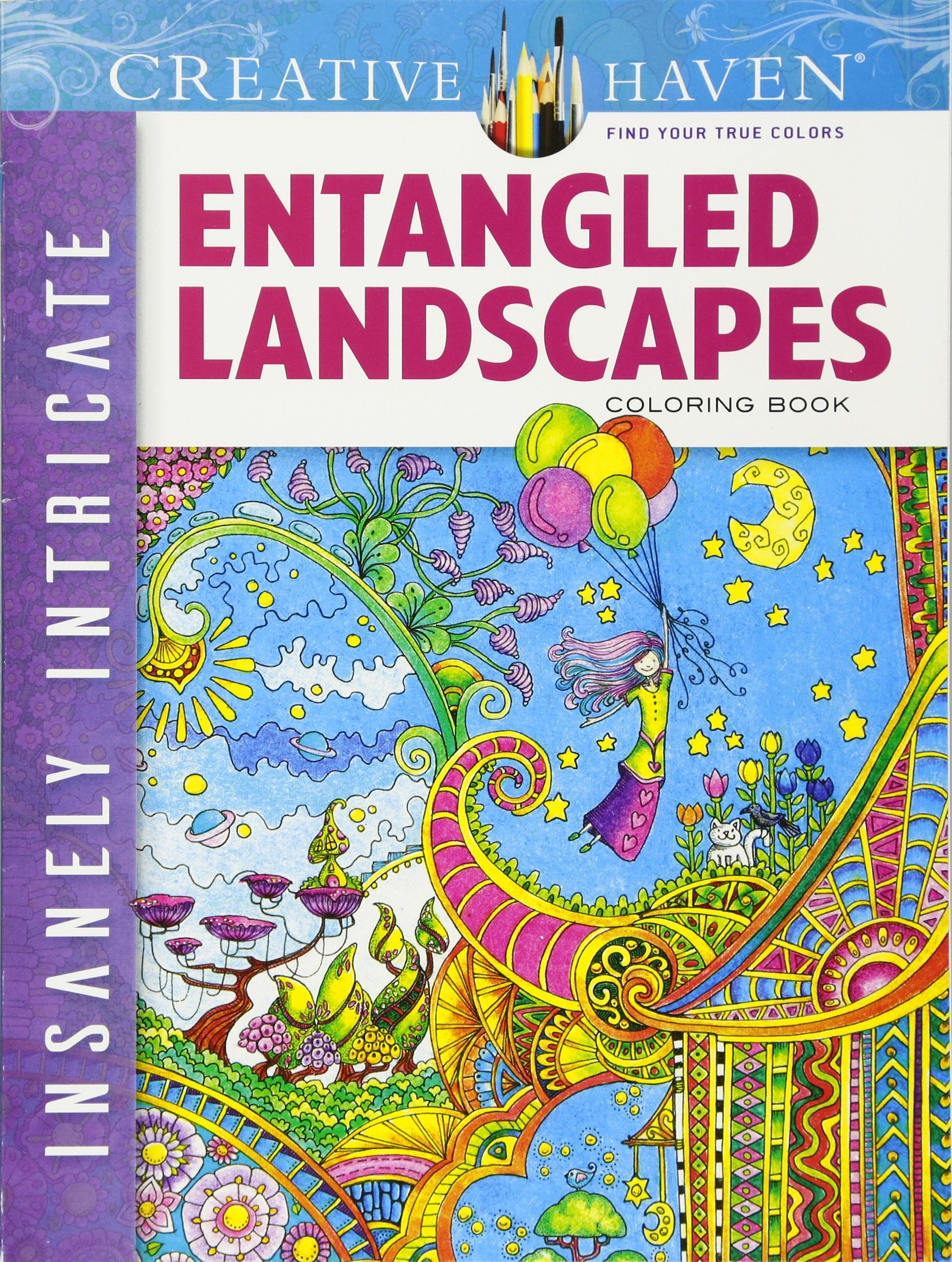 Amazon Creative Haven Insanely Intricate Entangled Landscapes Coloring Book Adult 9780486806983 Dr Angela Porter Books
