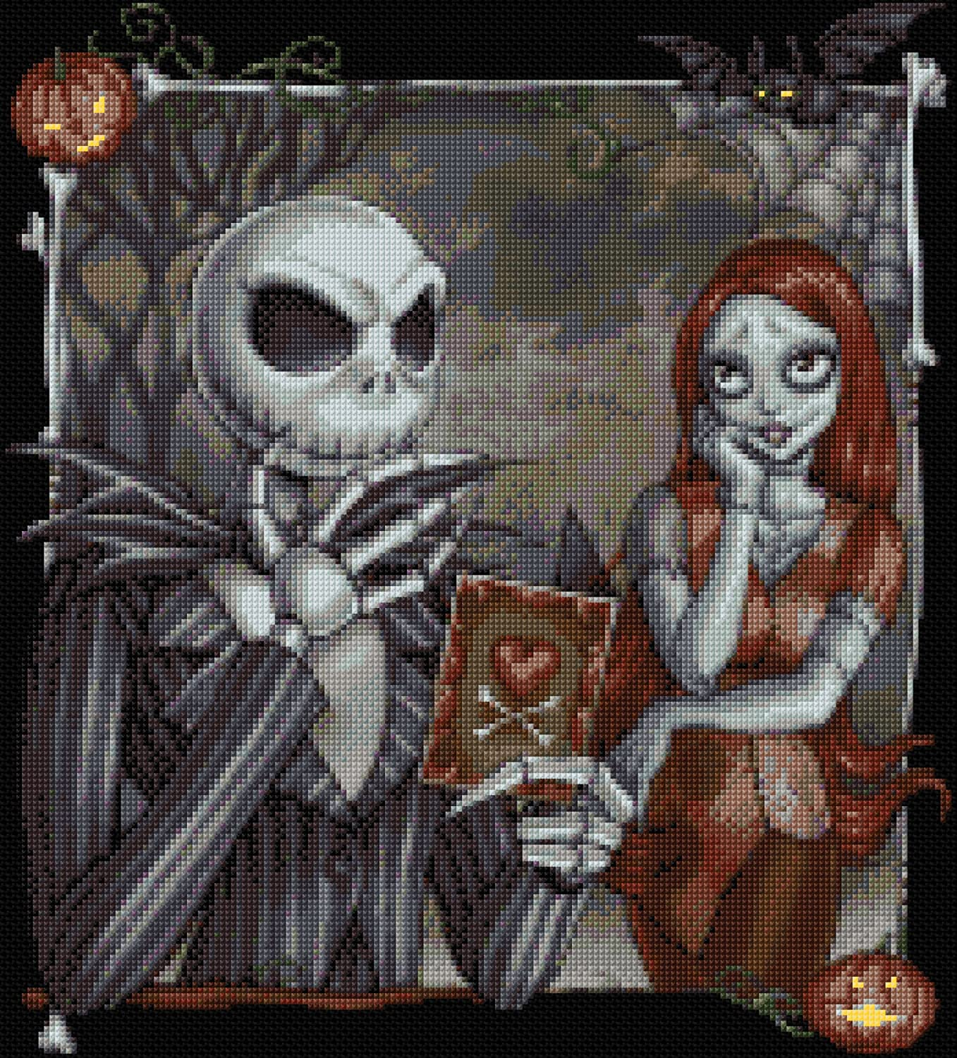 Nightmare Before Christmas Design 2 Counted Cross Stitch Kit 12.5 ...