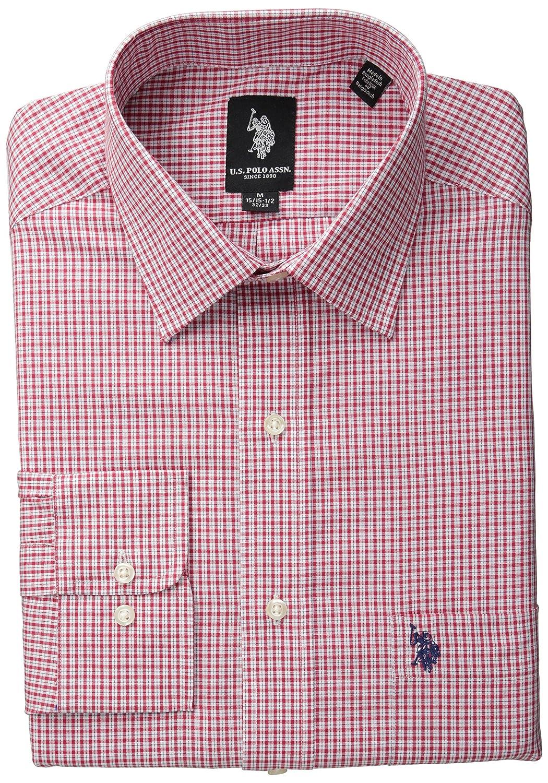 Mens Navy Mini Plaid Shirt U.S Polo Assn