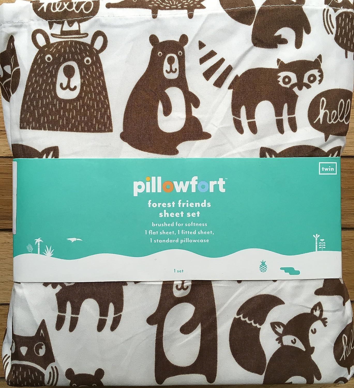 Pillowfort Forest Friends Sheet Set, Twin
