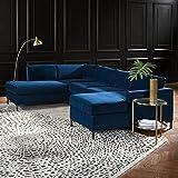 "Amazon Brand – Rivet Contemporary Abstract Area Rug, 5' 11"" x 3' 11"", Ivory, Black"