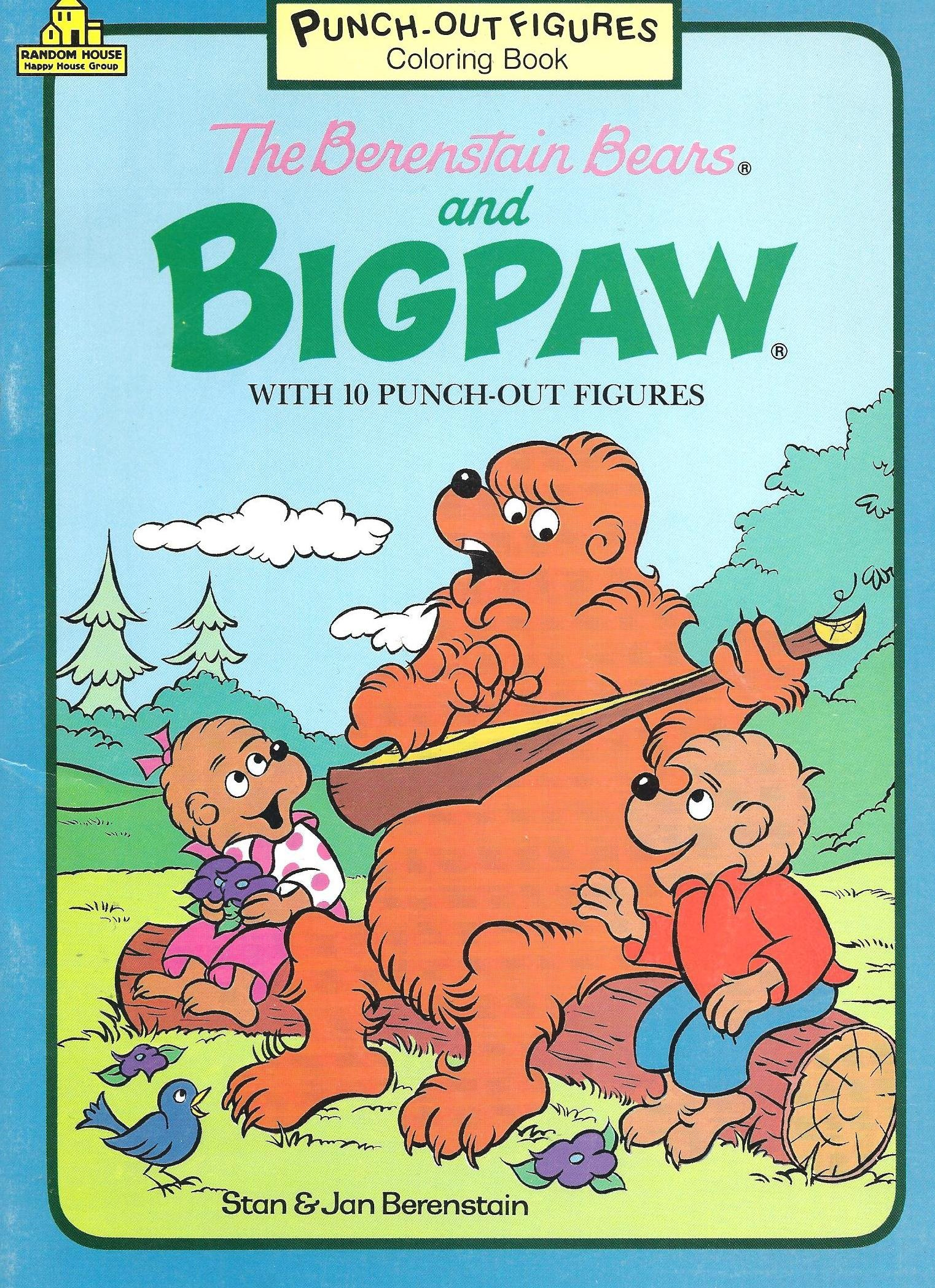 the berenstain bears and big paw coloring book with 10 punch out figures amazoncom books - Berenstain Bears Coloring Book