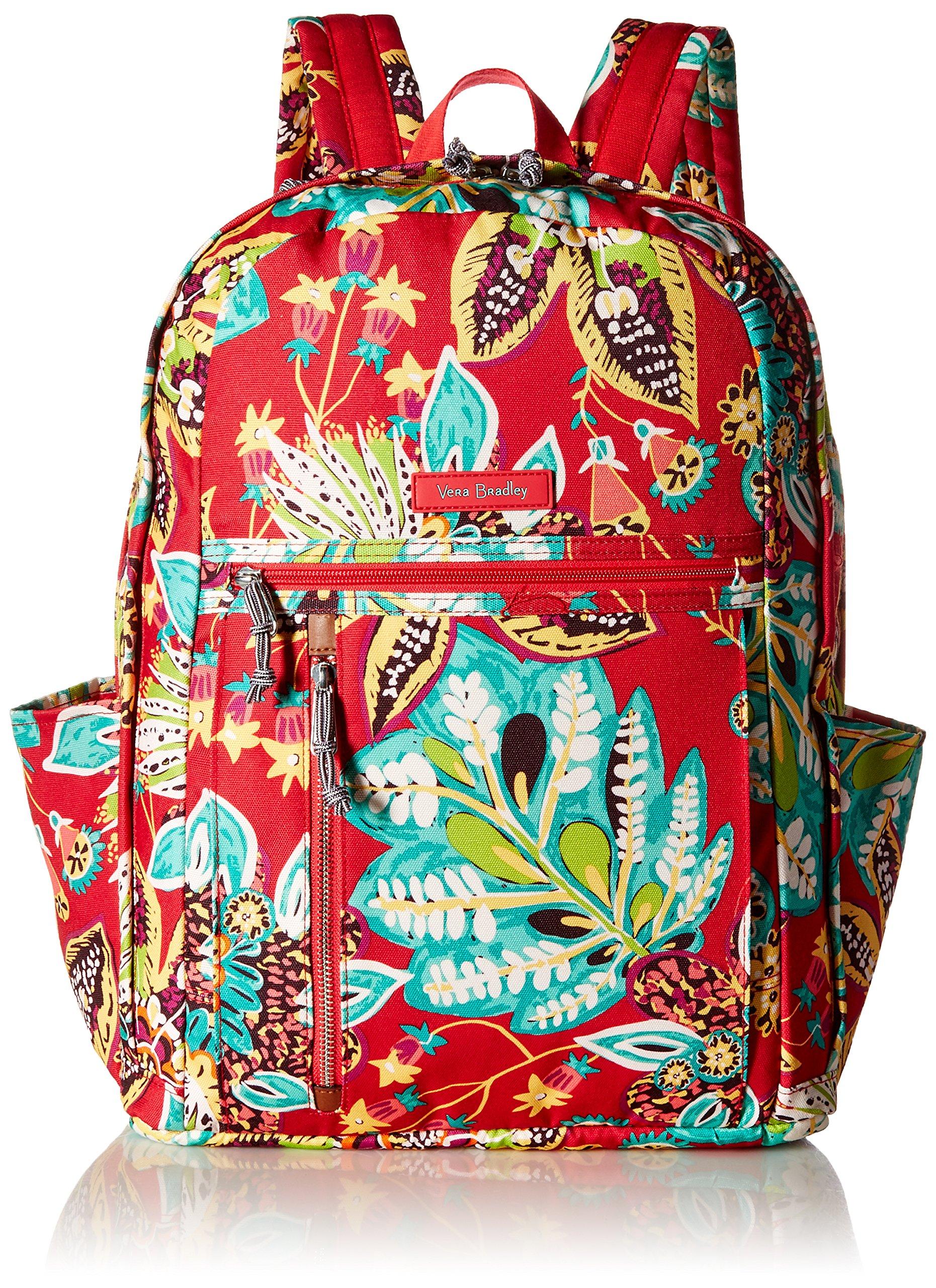 Vera Bradley Women's Grand Backpack Cotton, Rumba