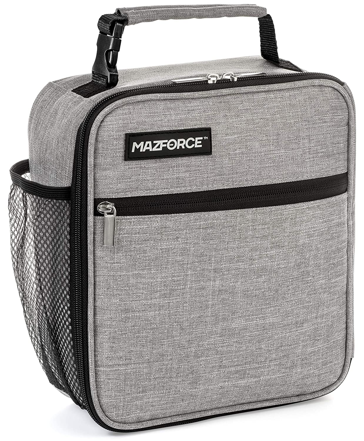 MAZFORCE Original Lunch Box Insulated Lunch Bag - Tough & Spacious Adult Lunchbox to Seize Your Day (Wolf Grey - Lunch Bags Designed in California for Men, Adults, Women) MF714928861