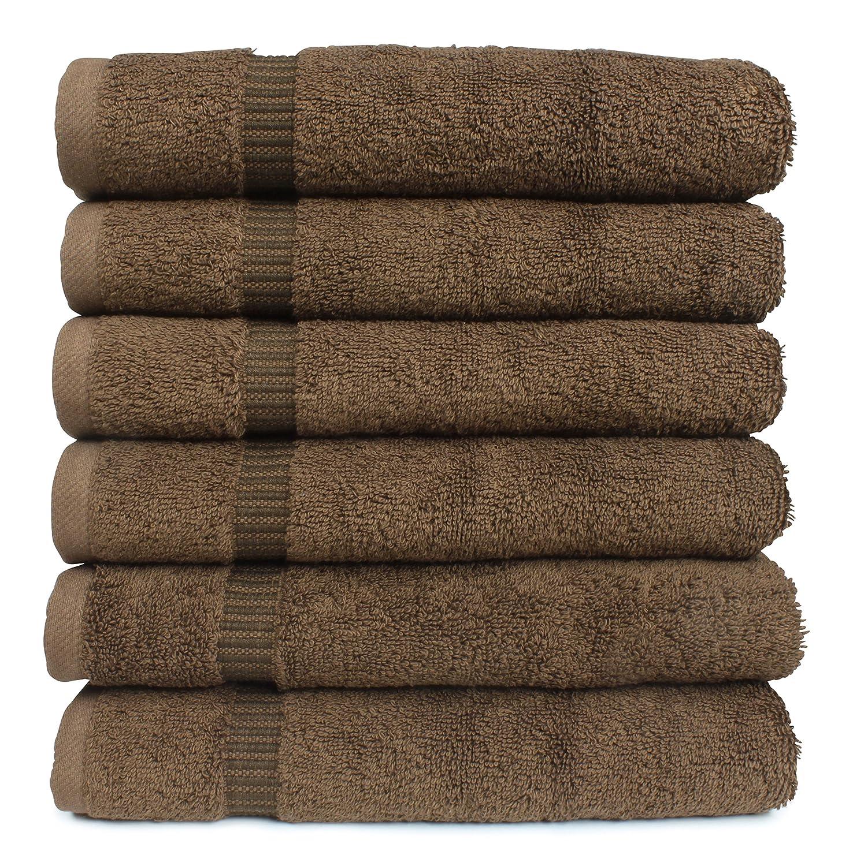 Blue SYNCHKG065209 SALBAKOS Luxury Hotel /& Spa Turkish Cotton 6-Piece Eco-Friendly Hand Towel Set 16 x 30 Inch