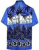 LA LEELA Shirt Casual Button Down Short Sleeve Beach Shirt Men Aloha Pocket 167