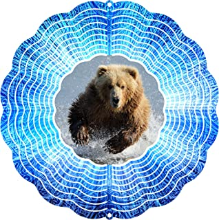"product image for Next Innovations 101408001-GRIZZLY Wind Spinner, 10"" Diameter, Multicolor"