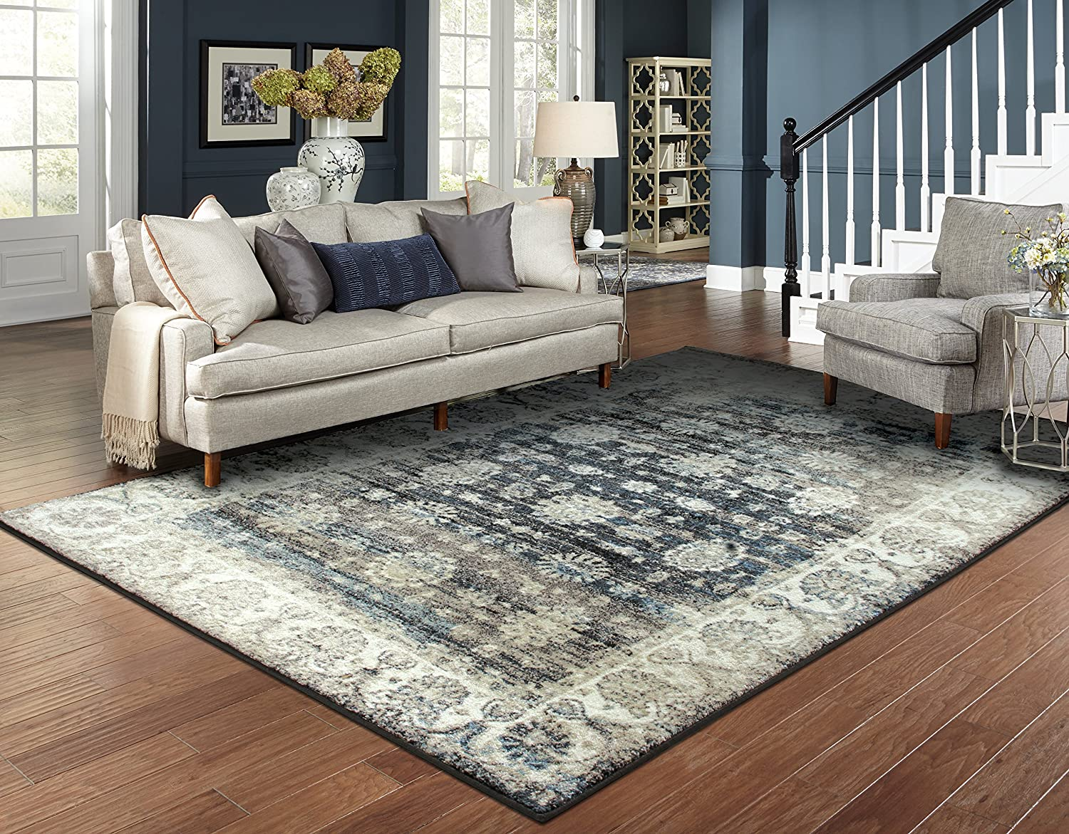 Traditional Distressed Area Rugs for Living Room 5x7 Clearance Beige 5x8  Rugs