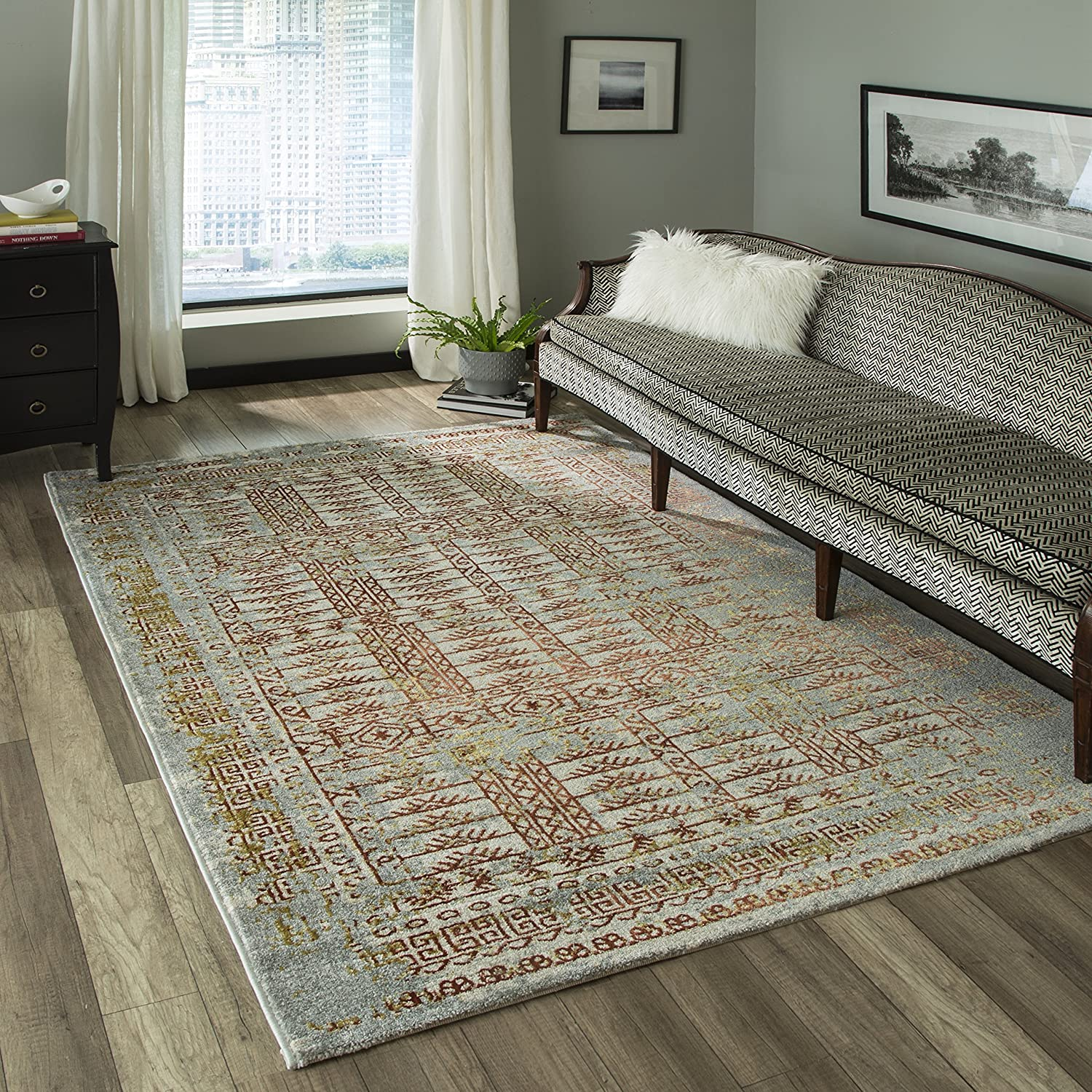 23 x 76 Momeni Rugs LUXE0LX-15RST2376 Luxe Collection Power-Loomed Contemporary Area Rug Rust 2/'3 x 7/'6 Inc.
