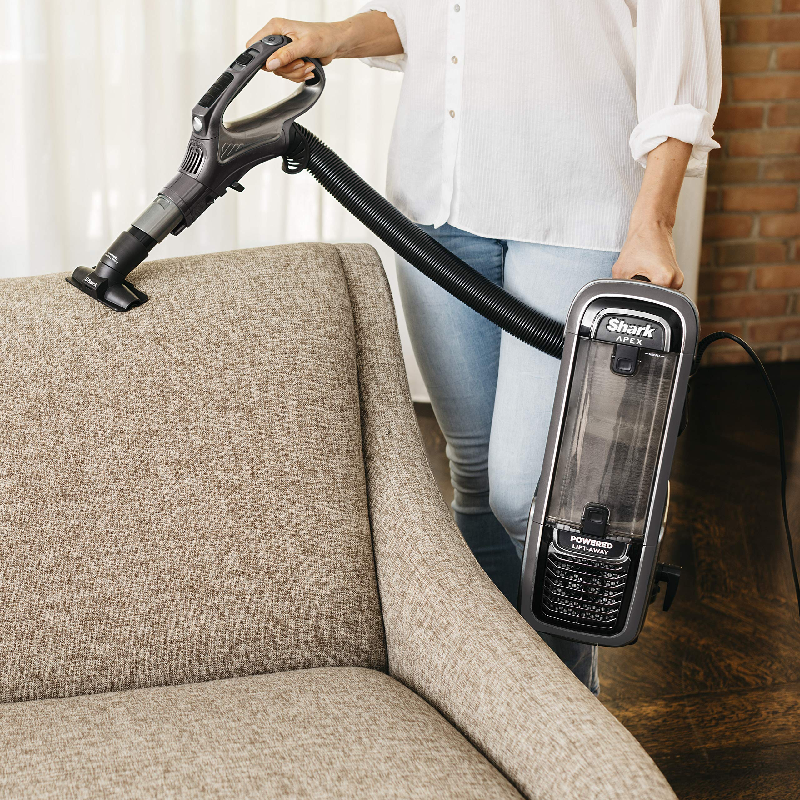 Shark Apex Upright Vacuum With Duoclean For Carpet And