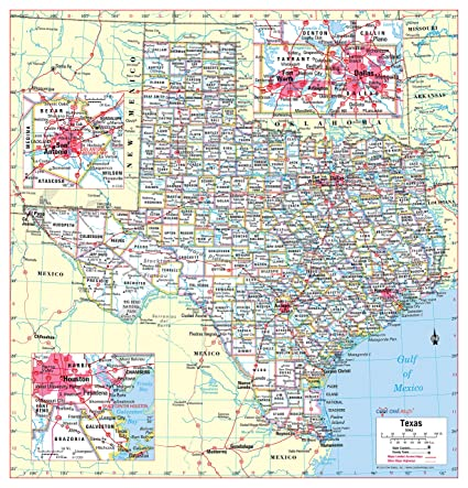 picture about Printable Maps of Texas referred to as Amazing Owl Maps Texas Region Wall Map Poster Rolled (Laminated 30\