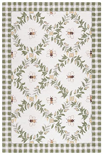 Safavieh Courtyard Collection CY6115-218 Beige and Sweet Pea Indoor Outdoor Area Rug 2 x 3 7