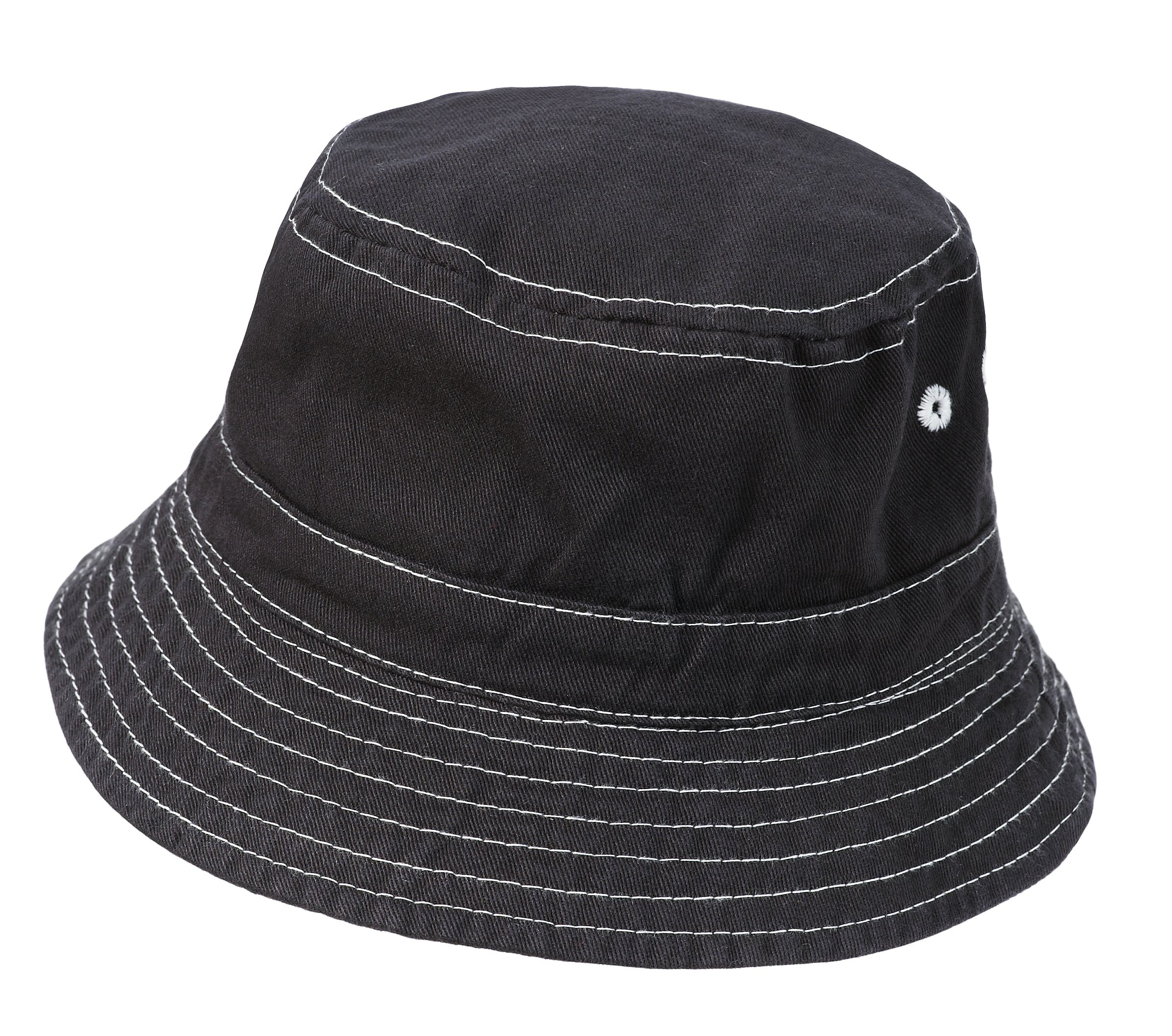 City Threads Little Boys' and Girls' Solid Wharf Hat Bucket Hat For Sun Protection SPF Beach Summer - Charcoal - L(2T-3T)
