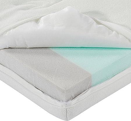 AmazonBasics - Colchón para bebé y niño pequeño, de espuma fría, de doble cara, 60 x 120 cm
