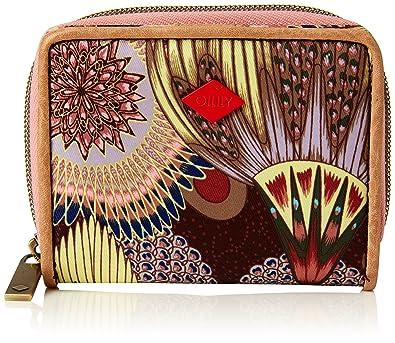 Oilily Classic Ivy Travel Wallet Geldbörse Portemonnaie Rosa Mehrfarbig Neu