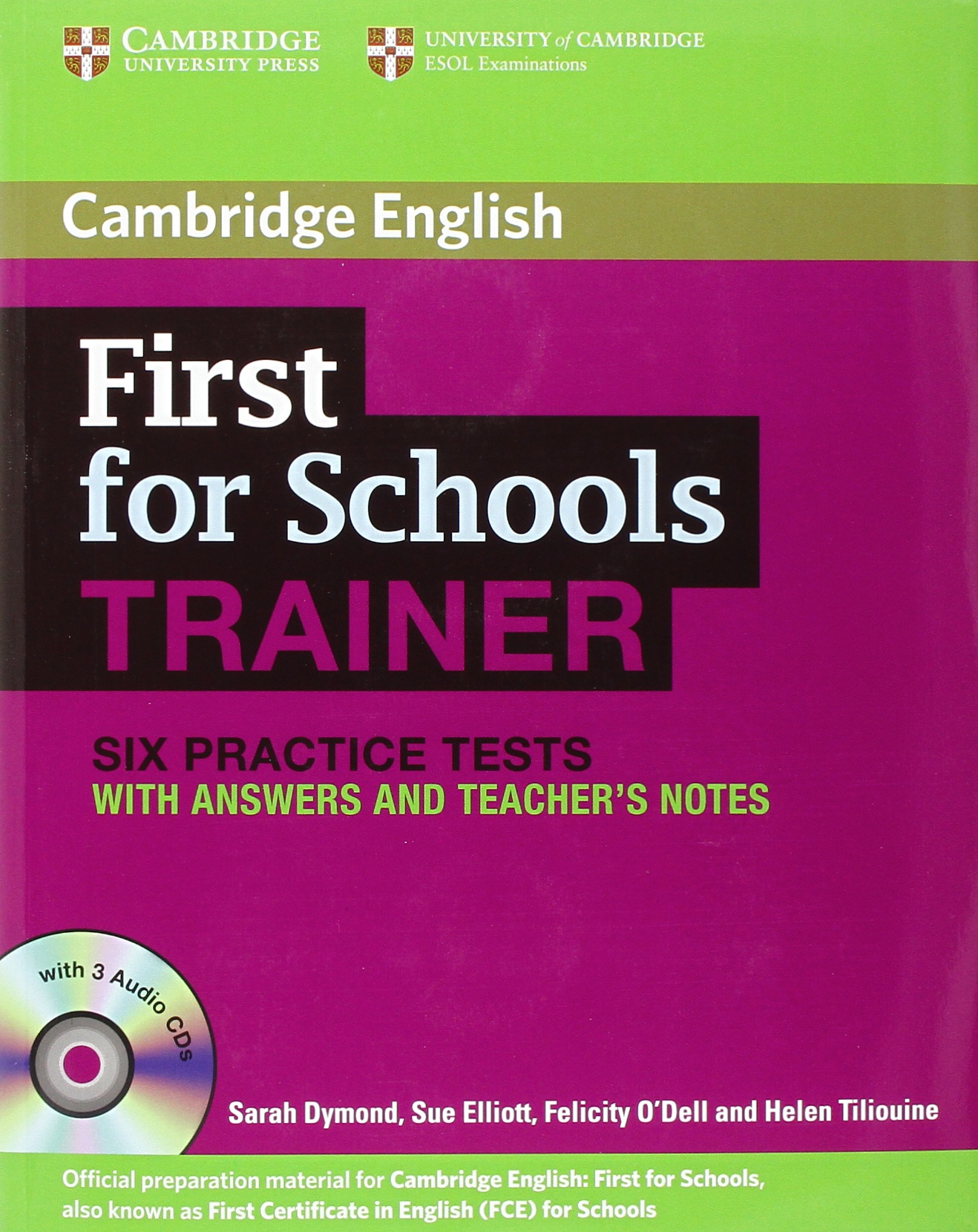 Buy first for schools trainer six practice tests with answers and buy first for schools trainer six practice tests with answers and audio cds 3 authored practice tests book online at low prices in india first for yelopaper Image collections
