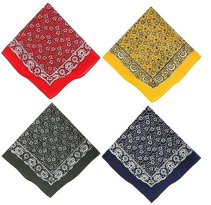Bandana Foulard Paisley Rouge 100 % Coton 55 x 55cm Décoration de Noël 6c8d5eed353