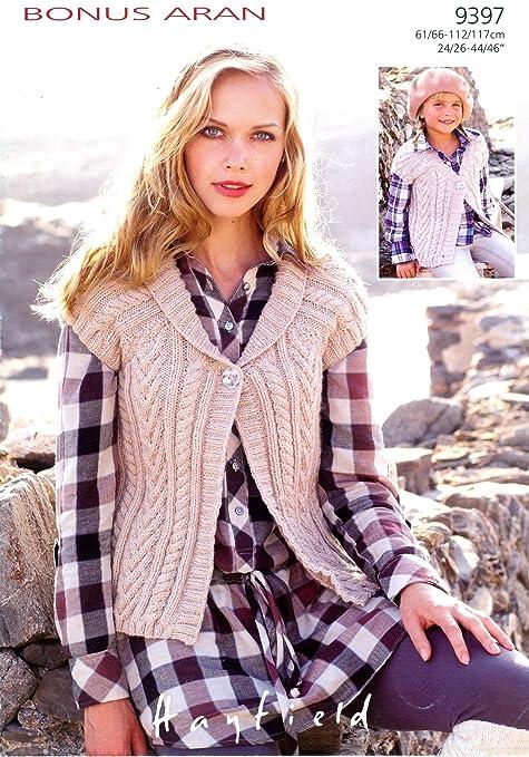 Sirdar Bonus Aran Ladies Knitting Pattern 9397 Amazon